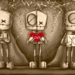 I Love You - Sepia